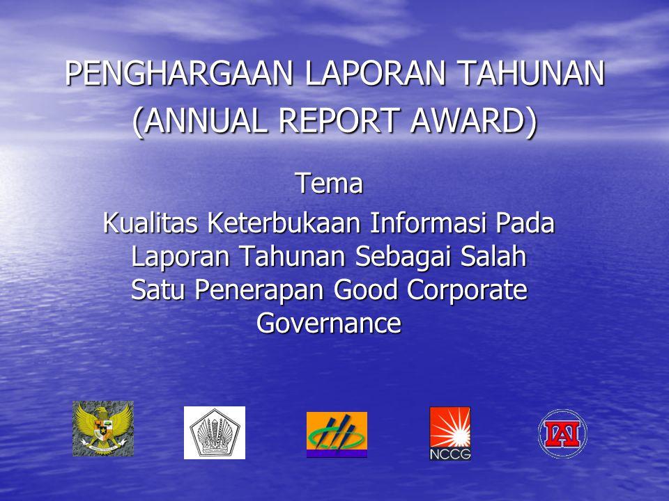 PENGHARGAAN LAPORAN TAHUNAN (ANNUAL REPORT AWARD)