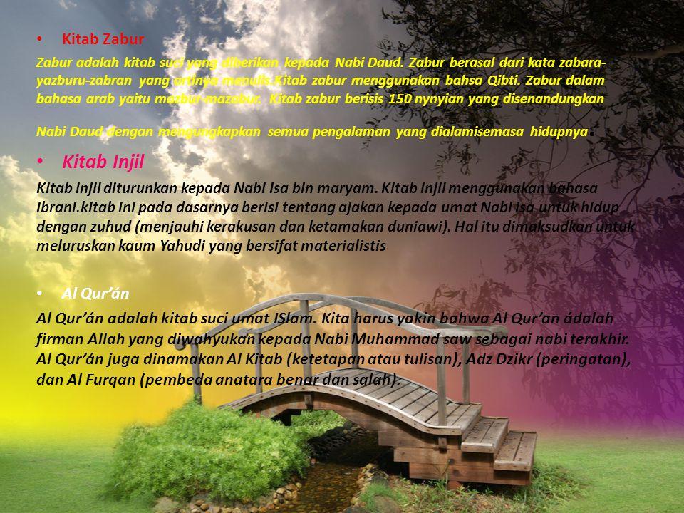 Kitab Injil Kitab Zabur Al Qur'án