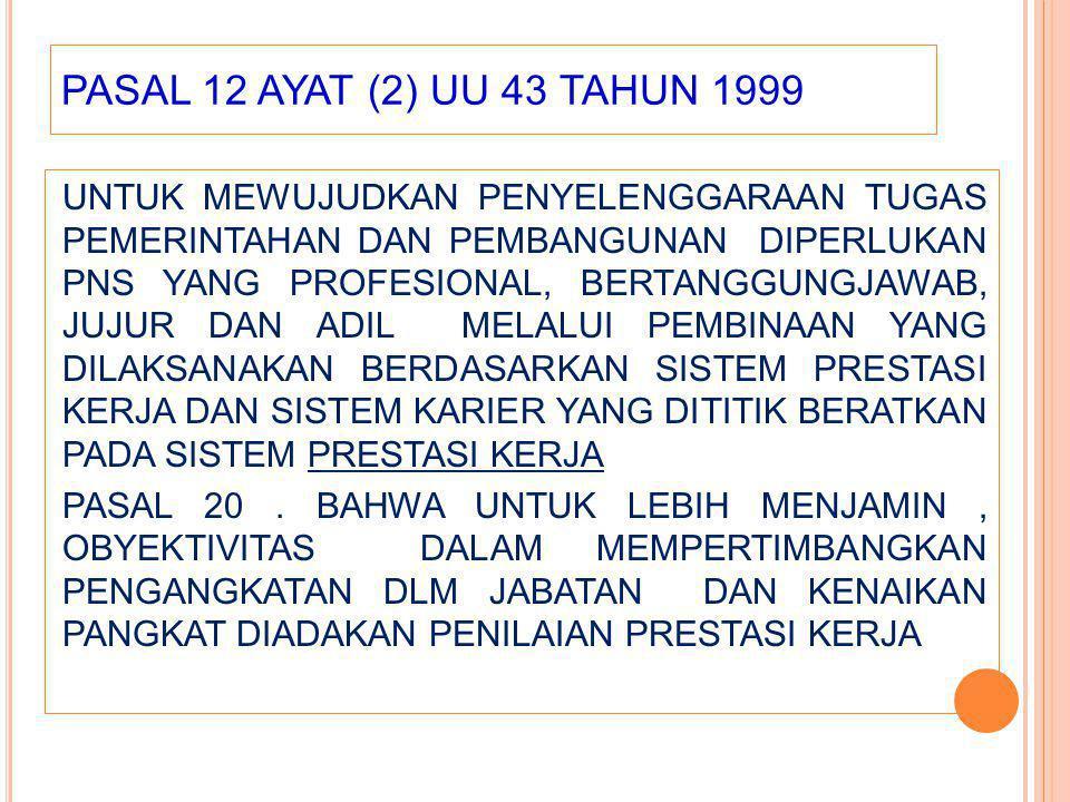 PASAL 12 AYAT (2) UU 43 TAHUN 1999