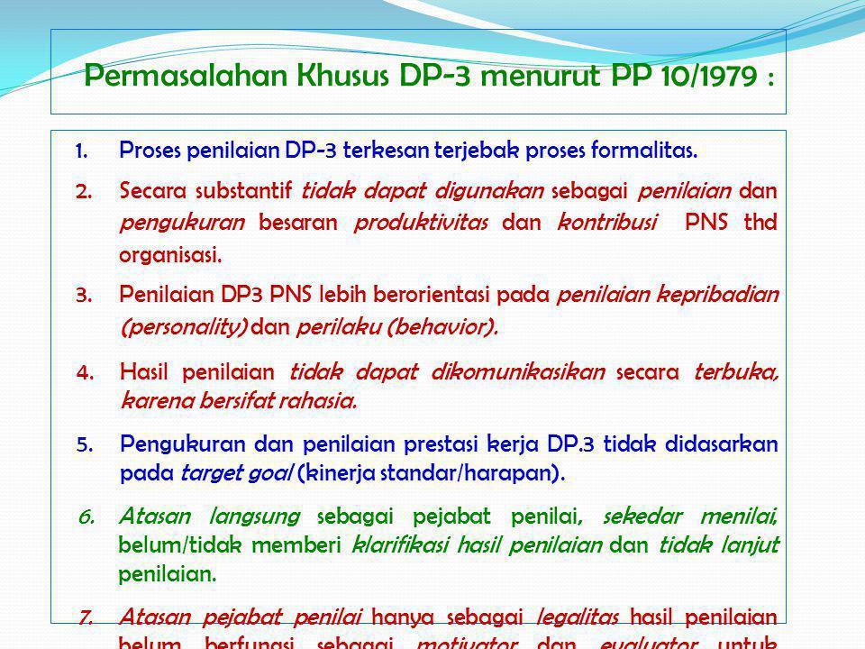 Permasalahan Khusus DP-3 menurut PP 10/1979 :
