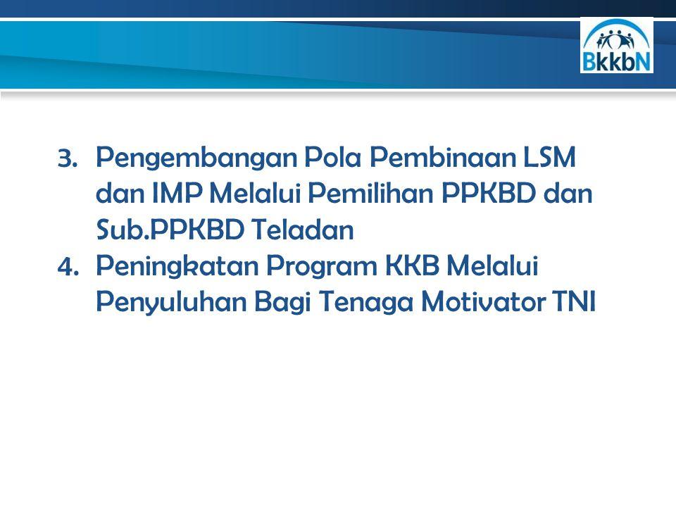 Pengembangan Pola Pembinaan LSM dan IMP Melalui Pemilihan PPKBD dan Sub.PPKBD Teladan