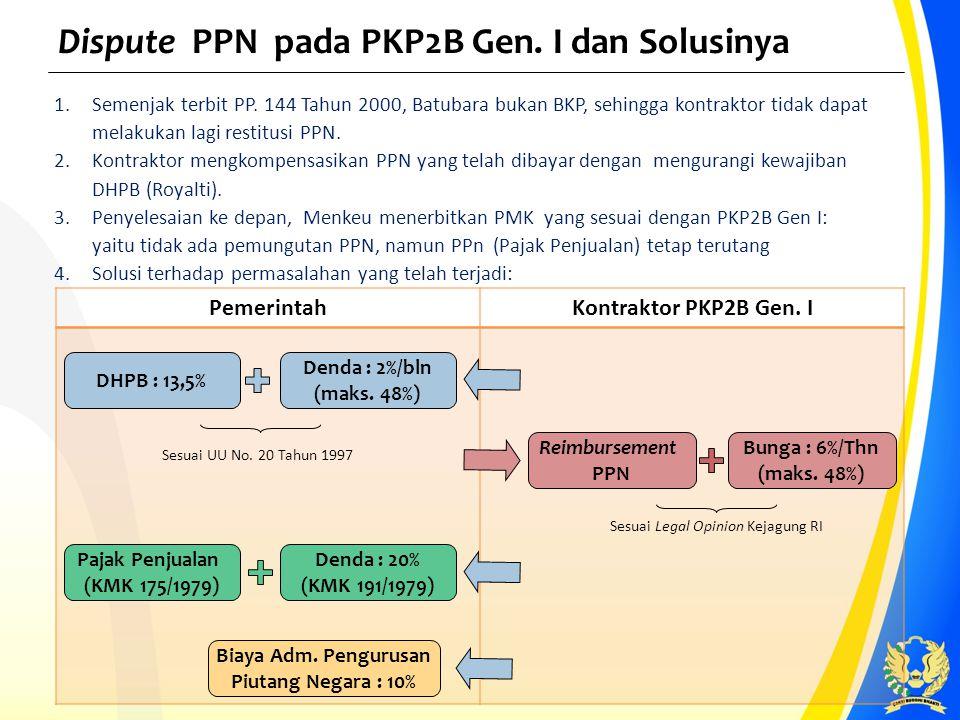 Dispute PPN pada PKP2B Gen. I dan Solusinya