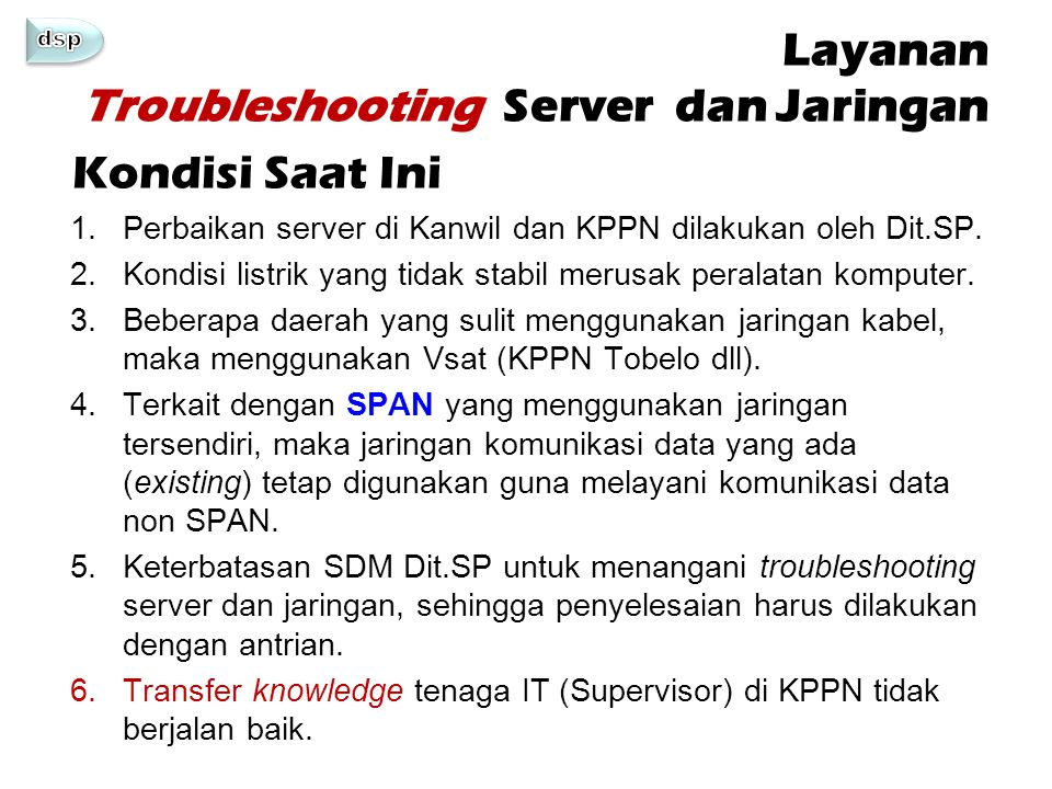 Layanan Troubleshooting Server dan Jaringan