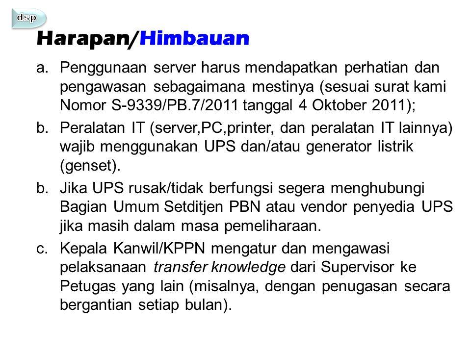 dsp Harapan/Himbauan.