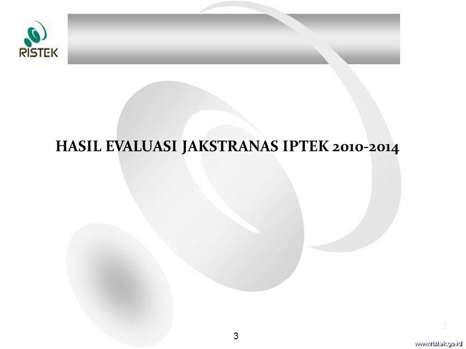 HASIL EVALUASI JAKSTRANAS IPTEK 2010-2014