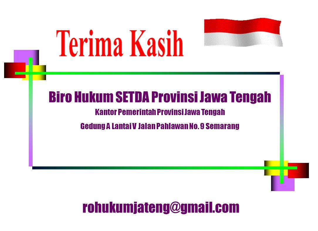 Biro Hukum SETDA Provinsi Jawa Tengah