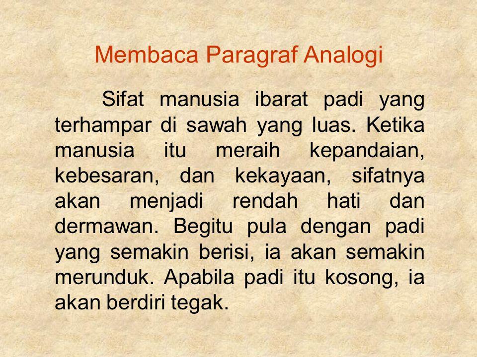 Membaca Paragraf Analogi