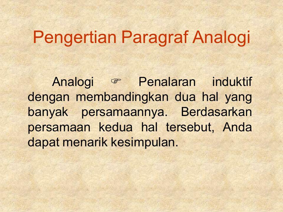 Pengertian Paragraf Analogi