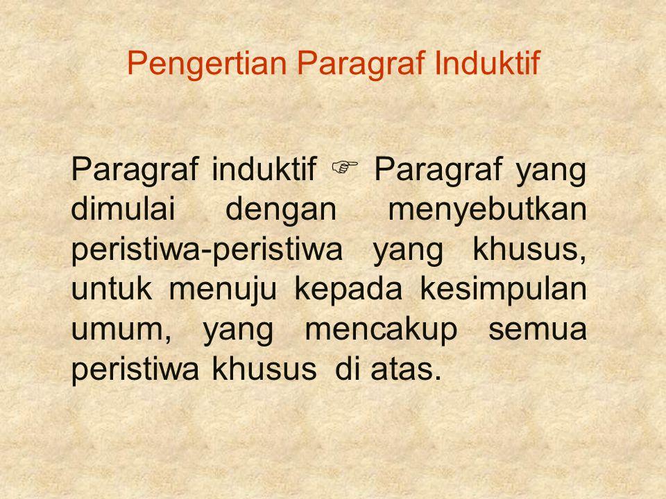 Pengertian Paragraf Induktif