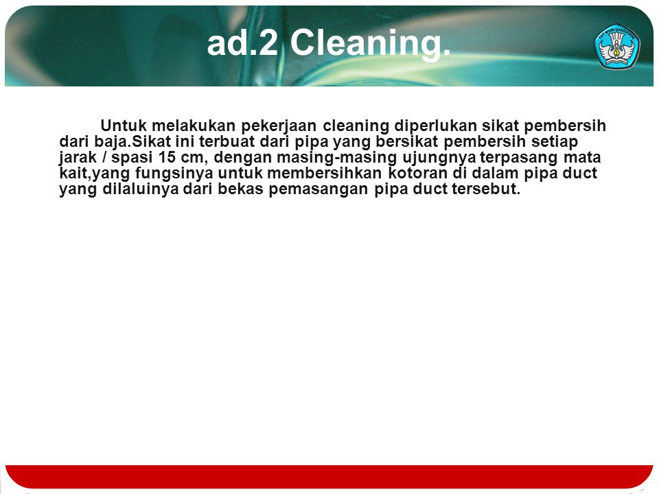 ad.2 Cleaning.