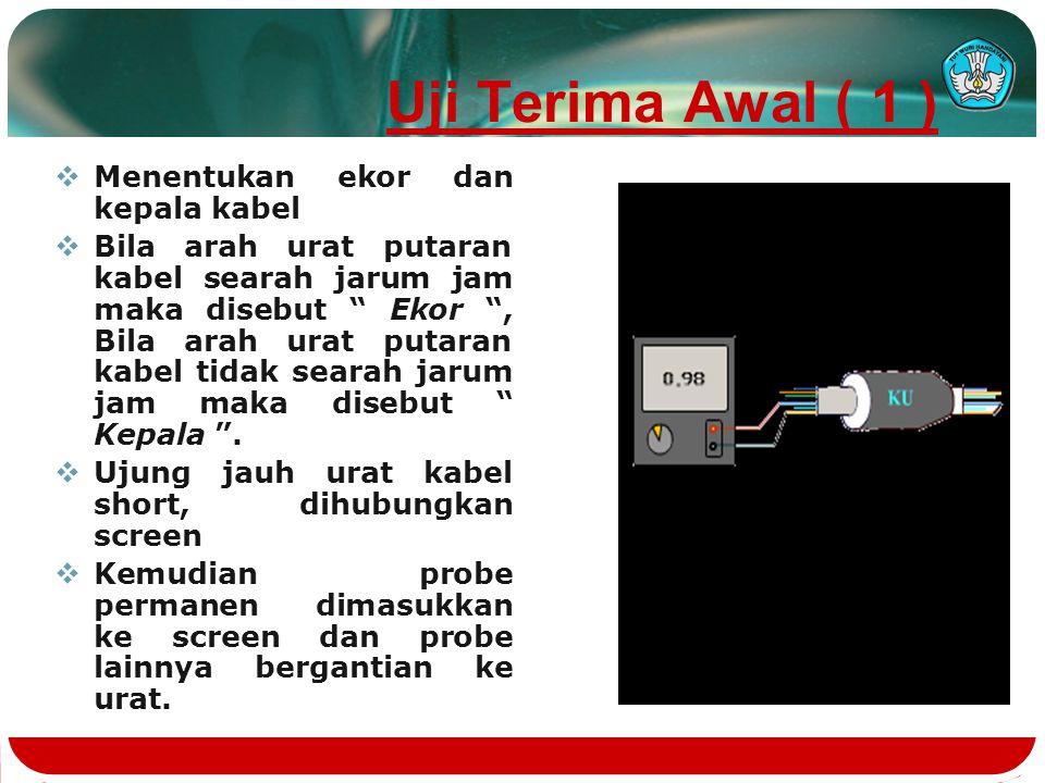 Uji Terima Awal ( 1 ) Menentukan ekor dan kepala kabel