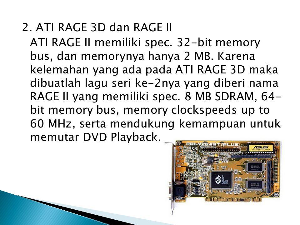 2. ATI RAGE 3D dan RAGE II