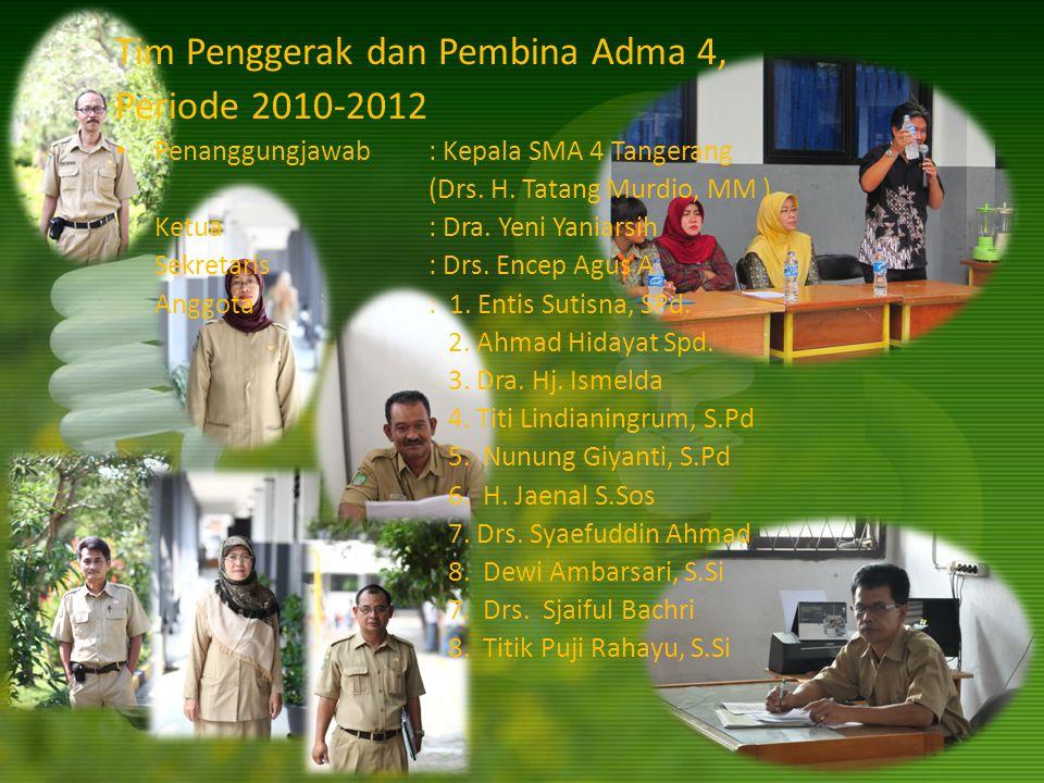 Tim Penggerak dan Pembina Adma 4, Periode 2010-2012
