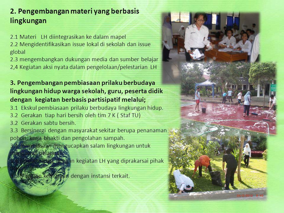 . 2. Pengembangan materi yang berbasis lingkungan