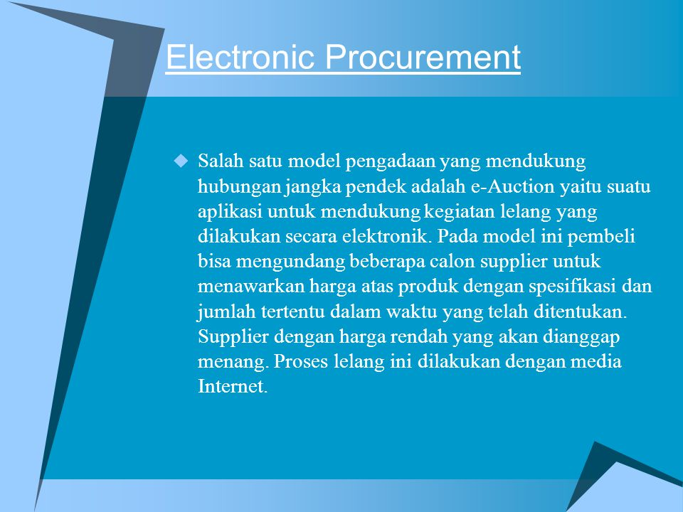 Electronic Procurement