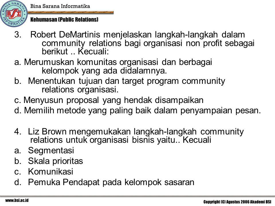 Robert DeMartinis menjelaskan langkah-langkah dalam