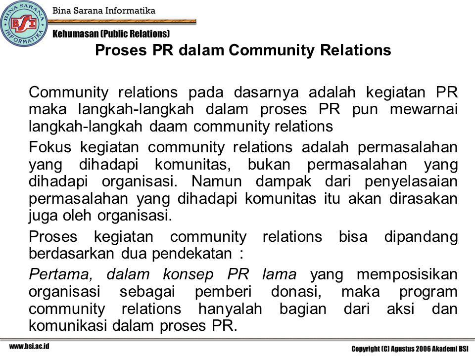 Proses PR dalam Community Relations