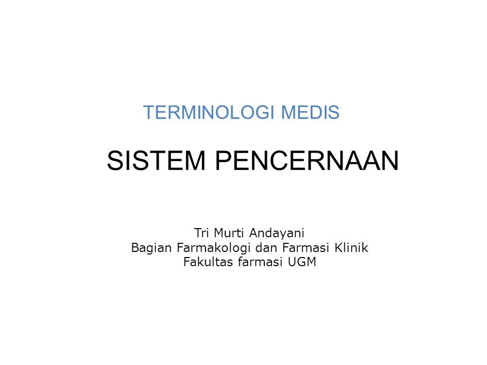 Bagian Farmakologi dan Farmasi Klinik