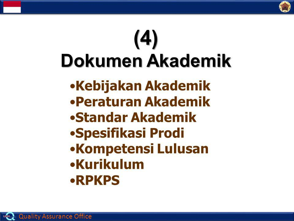 (4) Dokumen Akademik Kebijakan Akademik Peraturan Akademik