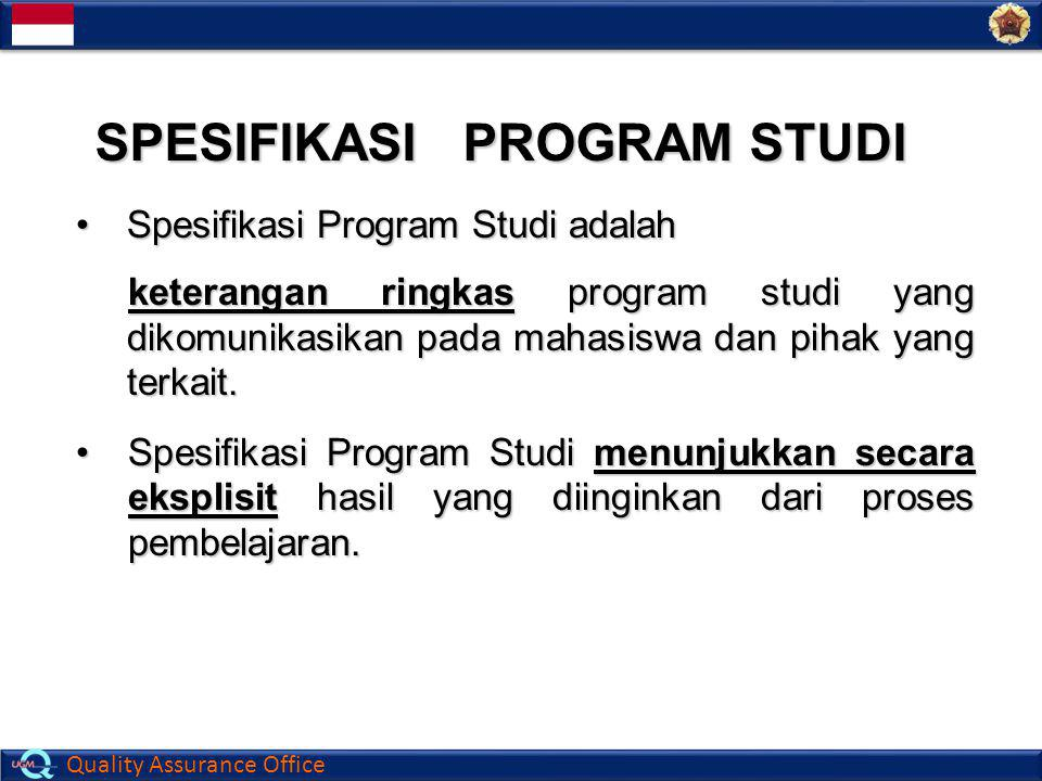 SPESIFIKASI PROGRAM STUDI