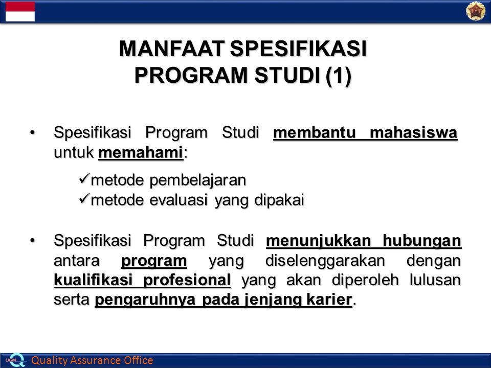 MANFAAT SPESIFIKASI PROGRAM STUDI (1)
