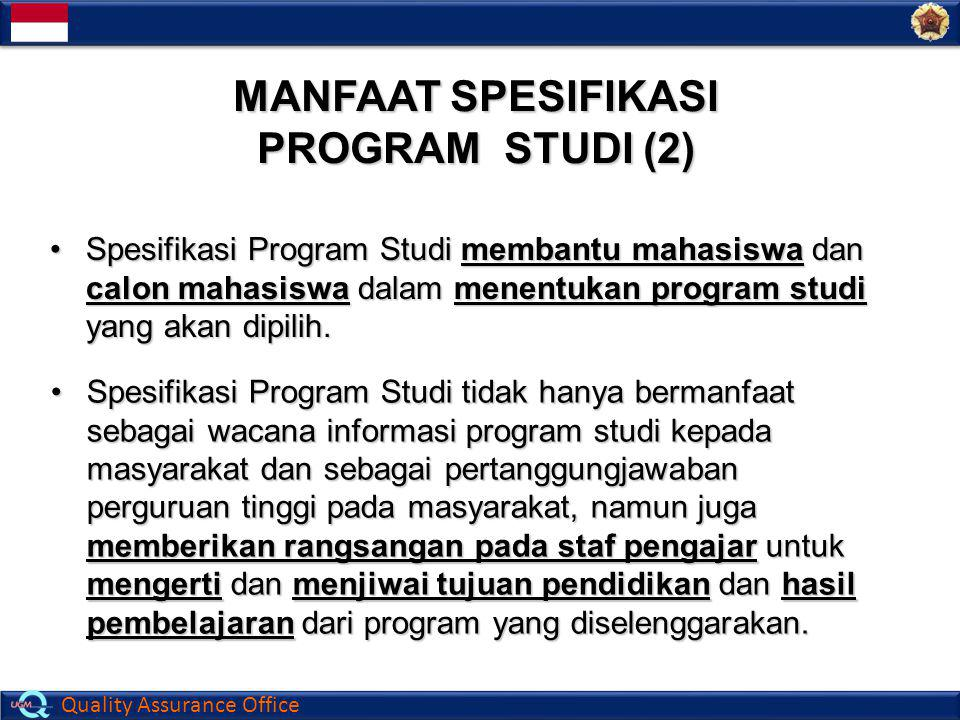 MANFAAT SPESIFIKASI PROGRAM STUDI (2)