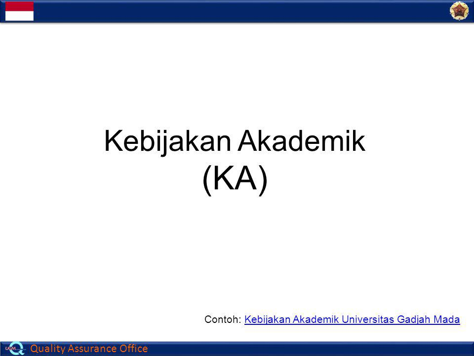(KA) Kebijakan Akademik