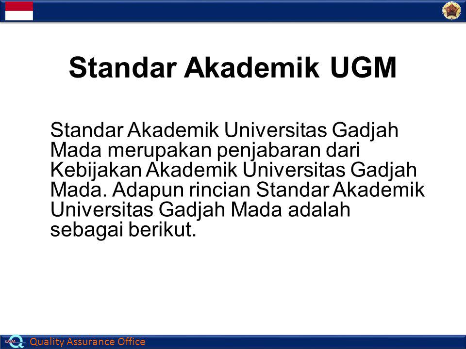 Standar Akademik UGM