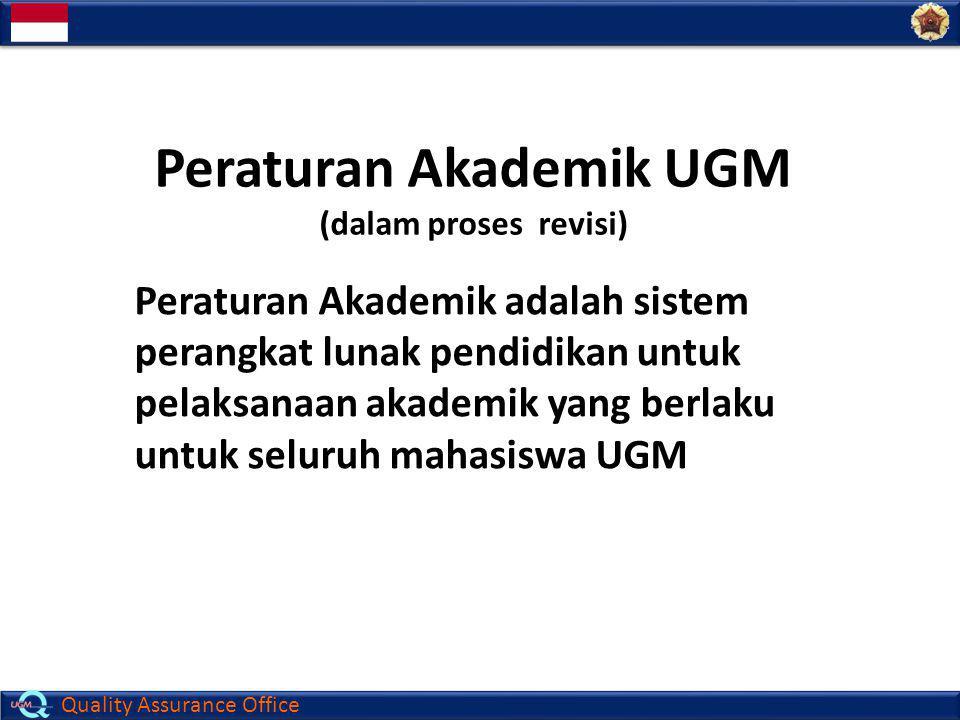 Peraturan Akademik UGM (dalam proses revisi)