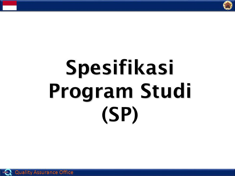 Spesifikasi Program Studi (SP)