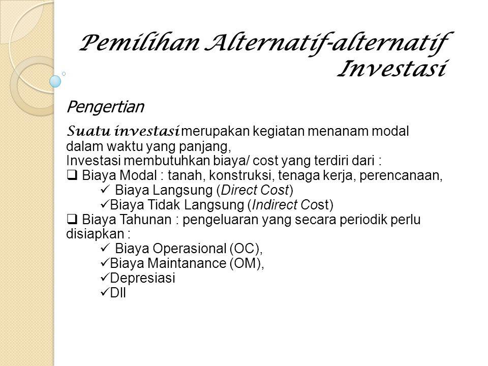Pemilihan Alternatif-alternatif Investasi