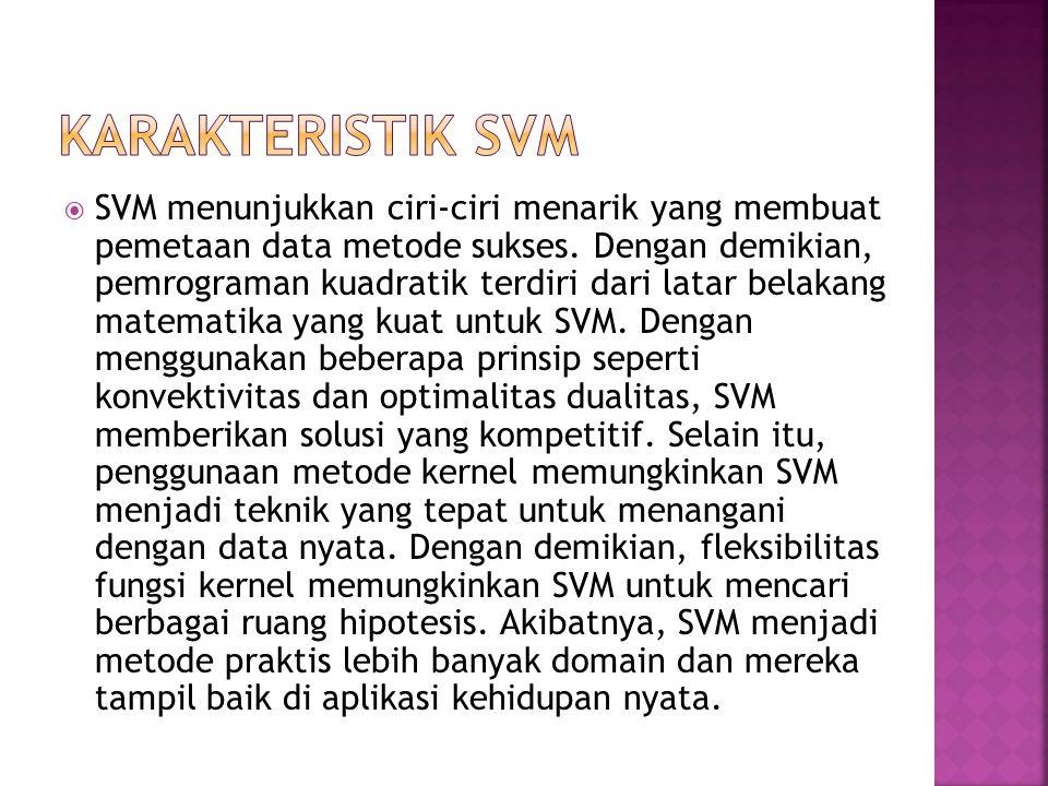 Karakteristik SVM