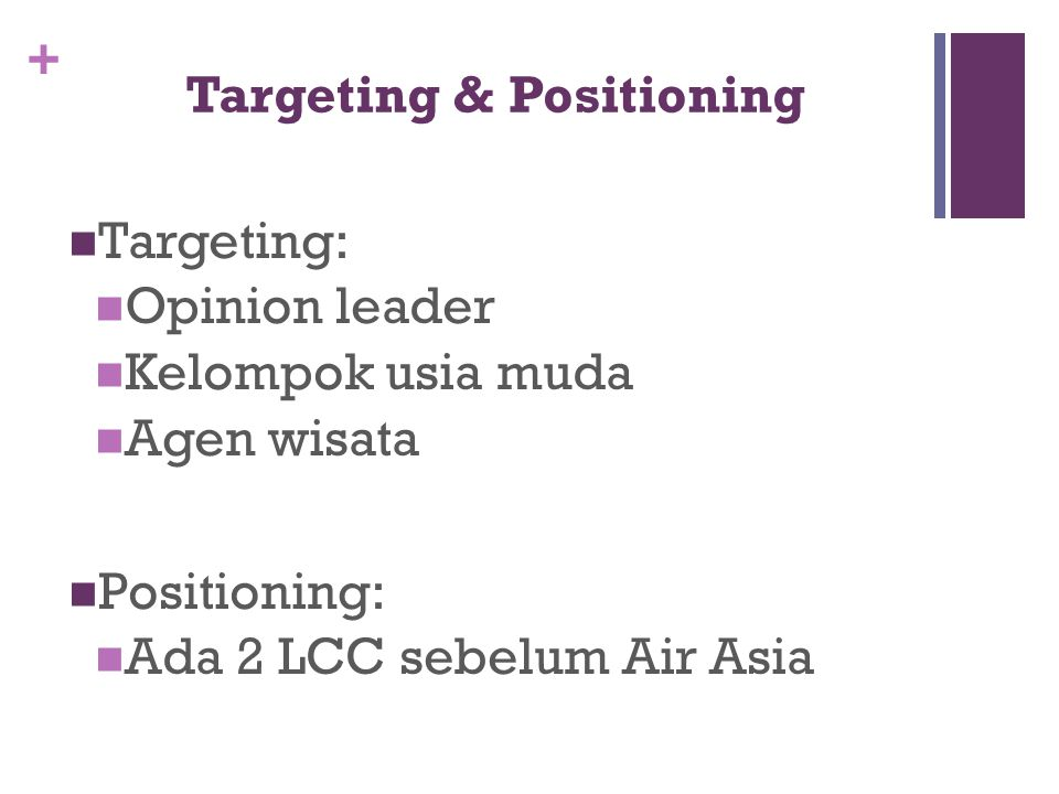 Targeting & Positioning