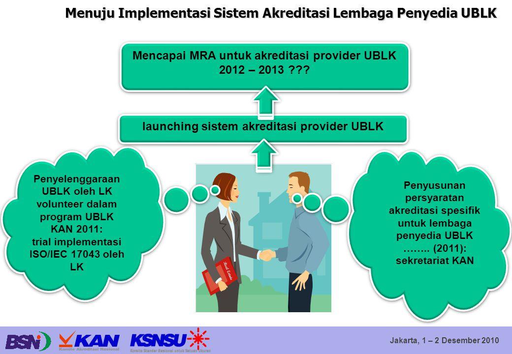Menuju Implementasi Sistem Akreditasi Lembaga Penyedia UBLK