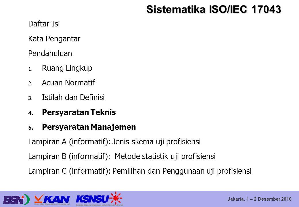 Sistematika ISO/IEC 17043 Daftar Isi Kata Pengantar Pendahuluan