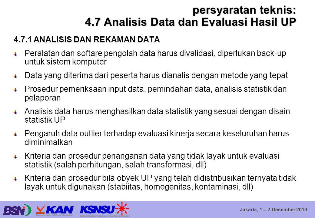 persyaratan teknis: 4.7 Analisis Data dan Evaluasi Hasil UP