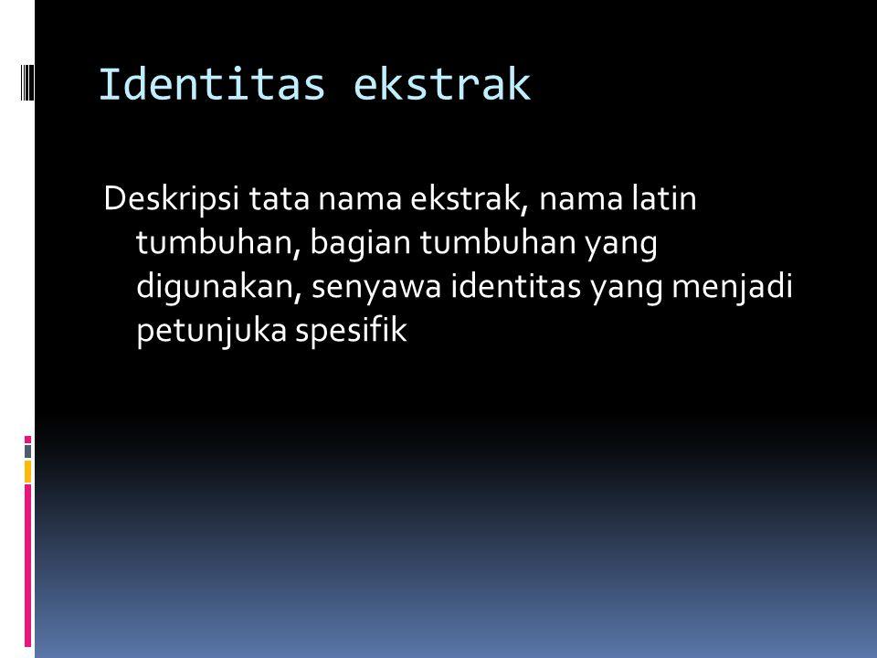 Identitas ekstrak