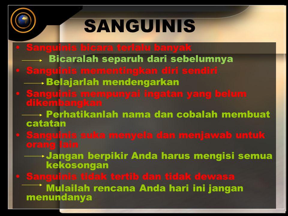 SANGUINIS Sanguinis bicara terlalu banyak