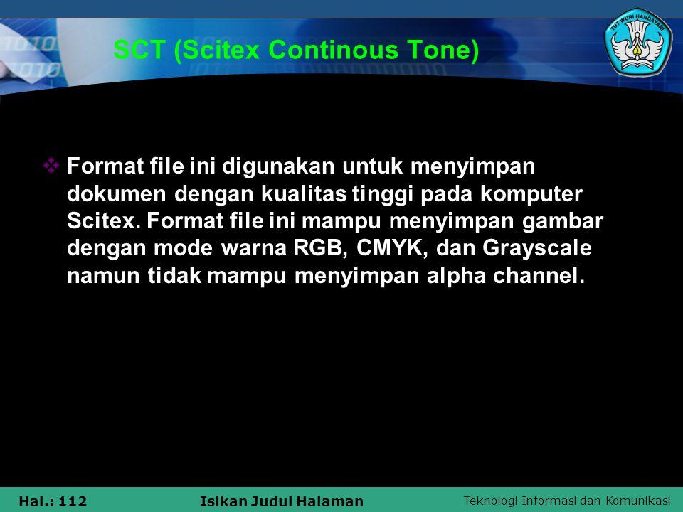 SCT (Scitex Continous Tone)