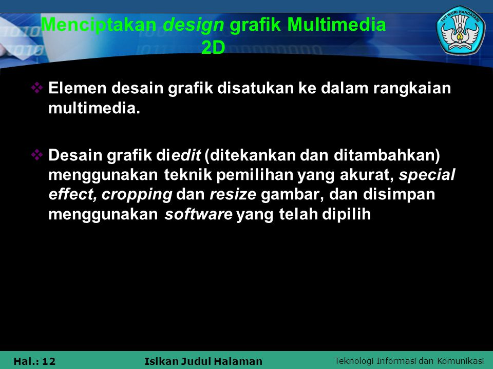 Menciptakan design grafik Multimedia 2D
