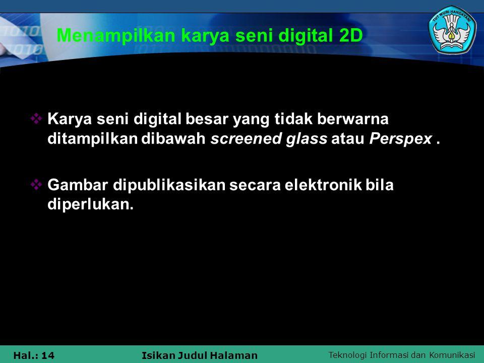 Menampilkan karya seni digital 2D