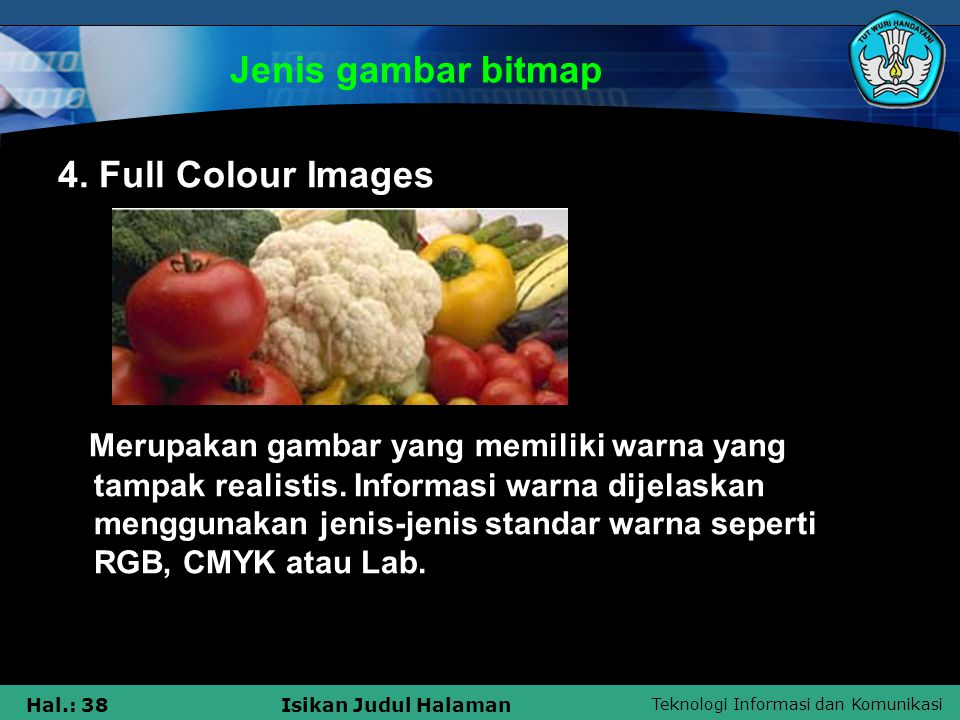 Jenis gambar bitmap 4. Full Colour Images.