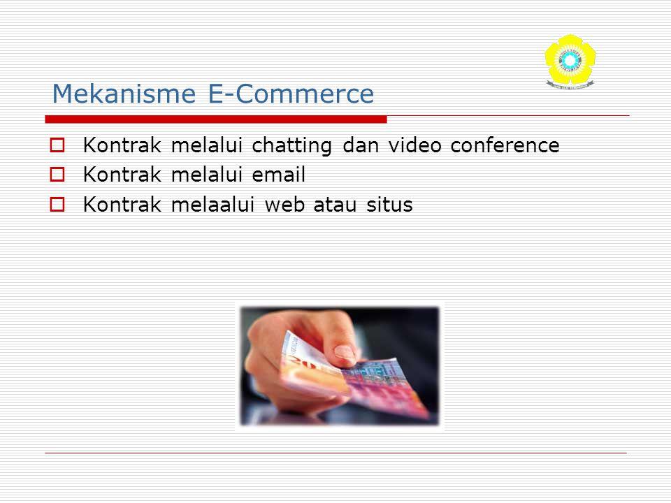 Mekanisme E-Commerce Kontrak melalui chatting dan video conference