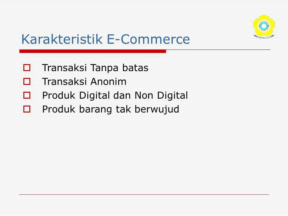 Karakteristik E-Commerce