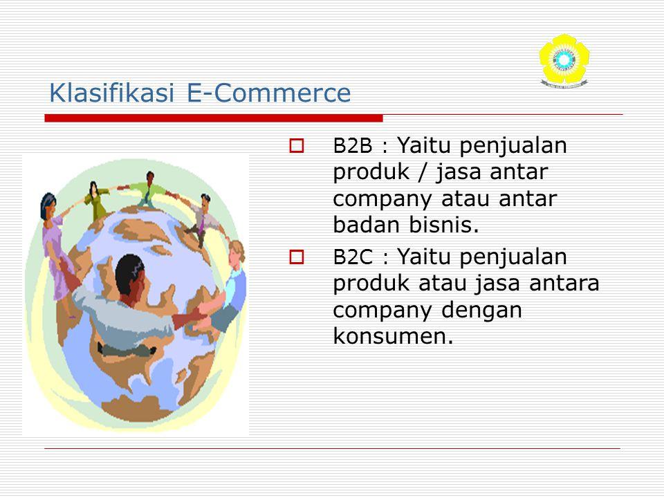 Klasifikasi E-Commerce