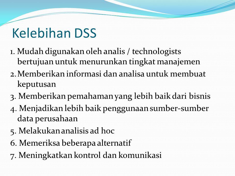 Kelebihan DSS