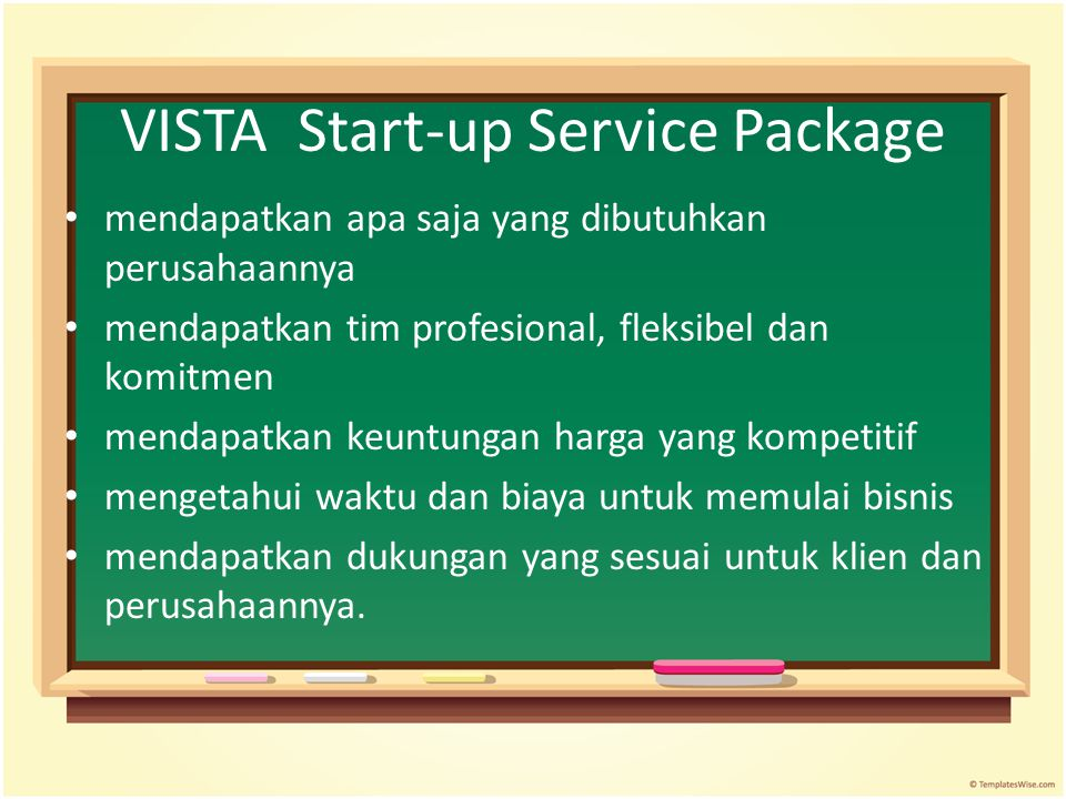 VISTA Start-up Service Package