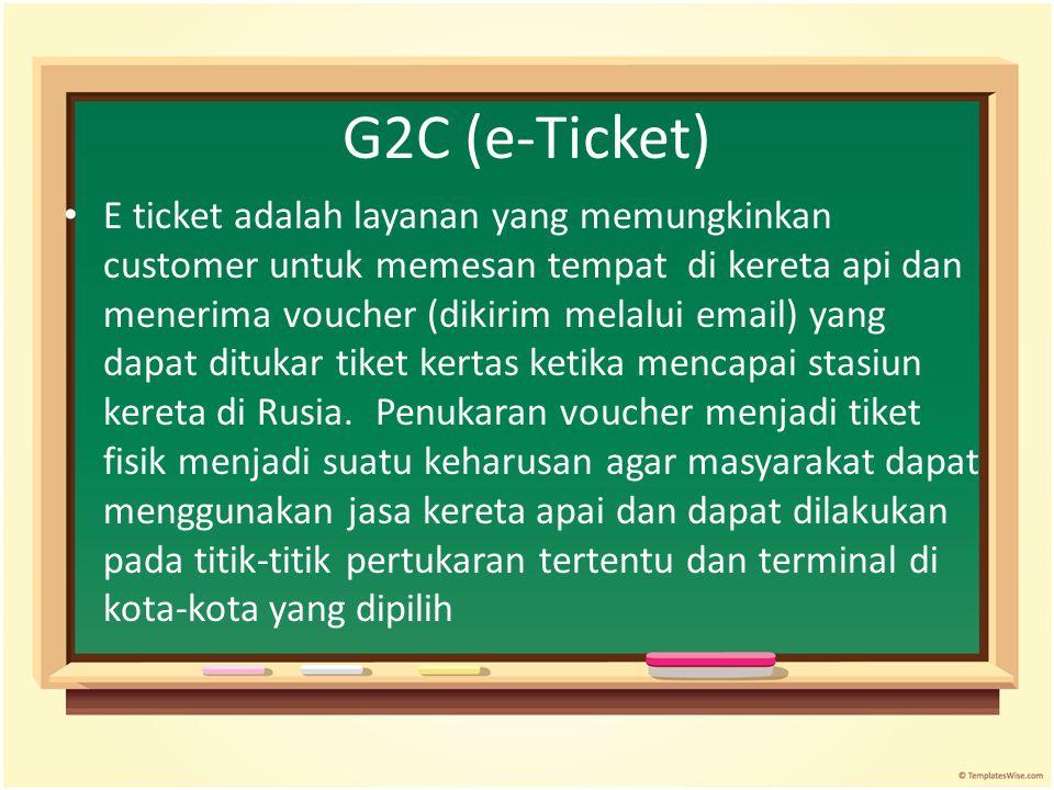G2C (e-Ticket)