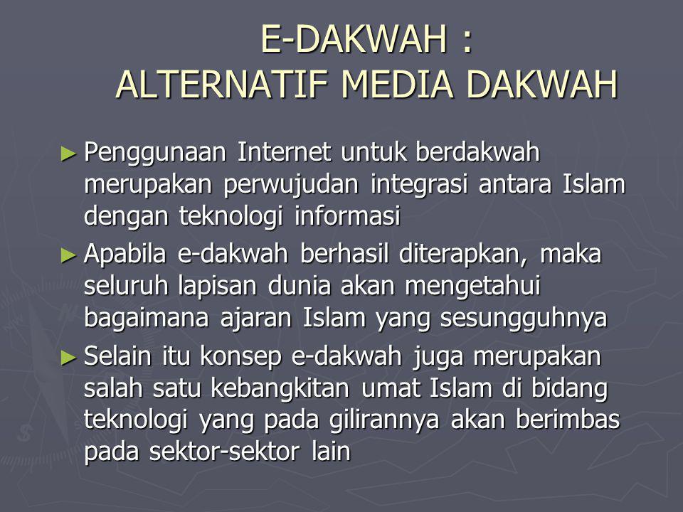 E-DAKWAH : ALTERNATIF MEDIA DAKWAH
