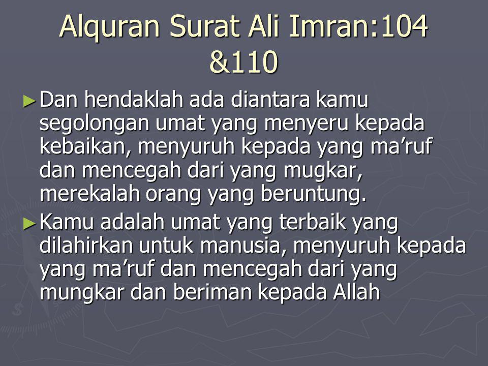 Alquran Surat Ali Imran:104 &110